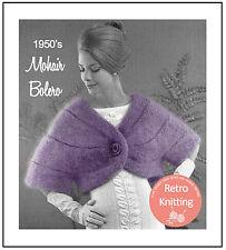 1950's Mohair Bolero - Vintage Knitting Pattern Copy