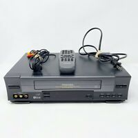 Toshiba Video Cassette Recorder W-528 VCR with Remote & RCA 4 Head TESTED