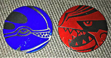 Kyogre GX and Groudon GX Collector Coin OFFICIAL Pokemon 2018 NEAR MINT