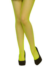 Adult Fishnet Tights Neon Green 1980s Ladies Fancy Dress Accessory New Hen Party