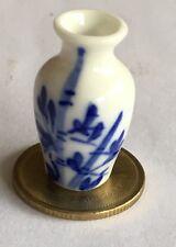 1:12 Scale Blue & White Ceramic Vase 2.8cm Tumdee Dolls House Ornament B120