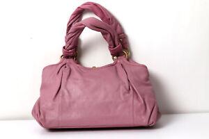 COACH Parker Violet Kisslock Leather Satchel Bag Purse 13437