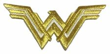 """DC Comics Wonder Woman New Logo 3 1/4"""" Wide Embroidered Iron On Patch"""