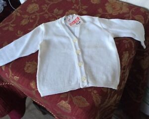 Vintage French baby cardigan size 1 month - unworn