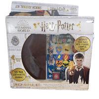 Harry Potter Smash Leatherette Journal Set Stencil Sticker Stamps Tape Ink Pad +