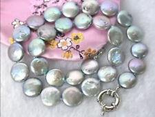 TDC Keshi Perlas y Amatista Collar con broche de plata esterlina del grano
