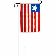 "12x18 12""x18"" Liberia Sleeved w/ Garden Stand Flag"