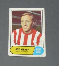 A & BC GUM CARD FOOTBALL ENGLAND 1969 JOE KIRKUP SOUTHAMPTON SAINTS