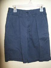 Boys Old Navy Blue SHORTS Size 12Slim 12 Private School Uniform SOFT 100% Cotton