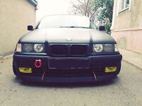 WIDE DIY front bumper chin for BMW E36 spoiler lip addon valance trim splitter M
