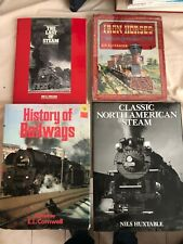 TRAIN AND LOCOMOTIVE BOOK LOT