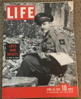 Vintage LIFE Magazine - April 30, 1945 - WWII War Artists - Incredible Art