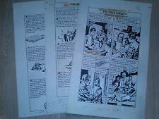 Albistur WORLD AROUND US #36 FIGHT FOR LIFE 3 Page Lot ORIGINAL COMIC ART 1961