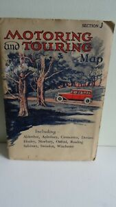 Retro Motoring and Touring Map Section J Oxford Area