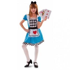 Costume Alice nel paese delle meraviglie bambina vestito celeste stampato fiaba