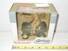 Kawasaki Prairie Four Wheeler With Bowhunting Figure  By Ertl  1/18th Scale