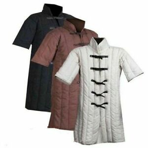 Medieval Thick Padded Black Gambeson Costumes Armor Suit of  Larp