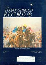 1985 Thoroughbred Record Magazine: Sieg Fur Die Sangster-Colours/Widener