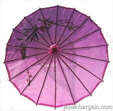 4 pcs Kid's Size Chinese Japanese Oriental Parasol Umbrella 22-inch Purple Color