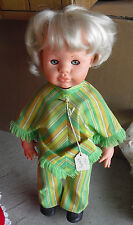 """Vintage 1960s Italy Blonde Character Girl Doll 17"""" Tall"""
