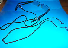 Two BROWN  Sports  Eyeglasses Chain Neck Strap Cord Holder New no Tags!