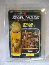 AFA 90 Star Wars PAPLOO action figure MOC w/ coin 1985 Kenner POTF vintage Ewok