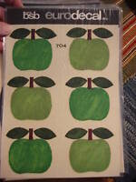 Vintage Retro BSB EURODECAL TRANSFER Green Apples