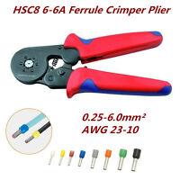 AWG 23-10 Self Adjusting Ratcheting Ferrule Crimper Plier HSC8 6-6A 0.25-6.0mm²