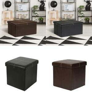 Folding Storage Ottoman Bench Foot Rest Stool Storage Cabinet Chest