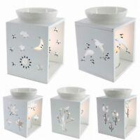 New Ceramic Oil Burner White Porcelain Wax Melt Fragrance 5 Designs Tree/Moon