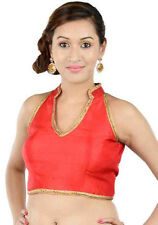 Bollywood Indian Choli Saree Polka Blouse Padded Tops Top Bellydance Choli Top