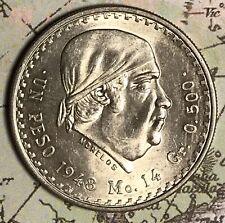 1948 MEXICO 1 PESO NICE SILVER COLLECTOR COIN. FREE SHIPPING