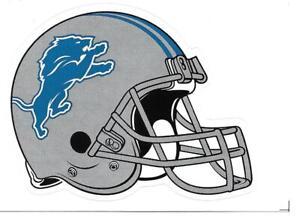 (19) Detroit Lions NFL Helmet Vending Machine Stickers