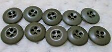 """Lot of 10 Us Army Military Od Green Fatigue Bdu Uniform Buttons 3/4"""" (19mm)"""
