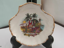 SHELL SHAPED PIN TRAY PICTURE OF TENERIFE   NO MAKER
