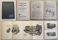 Junkers Flugmotor Jumo 210 D Baureihe 1 Betriebsanweisung & Wartung 1938 xz