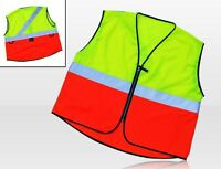 Respro Hi-Viz Cycling Reflective Adults Vest Waistcoat Bike Cycle Orange/Yellow