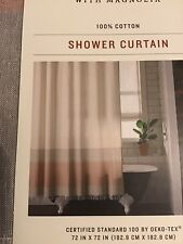 Hearth & Hand with Magnolia Shower Curtain Copper Ombre Colorblock w/ Fringe
