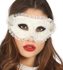 Encaje Blanco Máscara Veneciana Mujer Baile de Máscaras Maske Disfraz Halloween