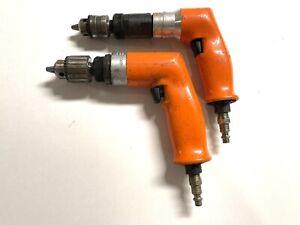 Dotco Drill 2pc Lot 5,200 & 600 Rpms With 1/4 Rohm 3/8 Jacobs Chucks