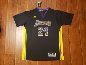 Los Angeles Lakers Kobe Bryant black sleeve Jersey XL