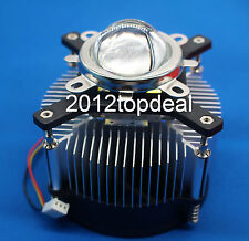 50w 100w High Power Led Heatsink Dc 12v 12a Led Cooling Fan 44mm Lens Kit