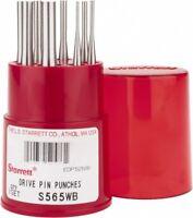 "Starrett S565WB Drive Pin Punch Set, 4""/ 100mm Length"