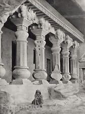 1928 Original INDIA Ajanta Nashik Cave Child Architecture Photo Art By HURLIMANN