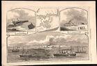 Ship Island Louisiana General Phelps's Brigade 1862 Civil War Navy steamships