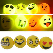 LED Flashing Emoji Bouncy Balls Polyethylene Kids Party Toy New Year Gifts