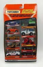NEW 1998 Matchbox Die Cast 10 Pack Gift Set Starter Collection Item 34721 VTG