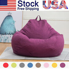 Large Bean Bag Chair Sofa Couch Cover Indoor Outdoor Lazy Lounger Cover 8-colors