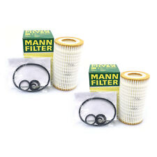 NEW For Mercedes Chrysler Dodge Pair Set of 2 Engine Oil Filters Mann 0001802609