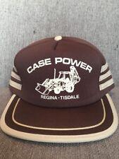 Vtg Case Power Brown Trucker Hat Snap Back Regina Tisdale Saskatchewan 80's SK